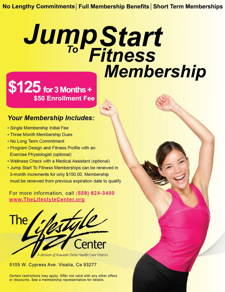 jump start to fitness flyer
